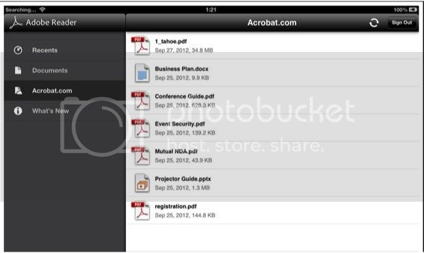 Adobe Reader 10.4.0 for Android updated with cloud storage support