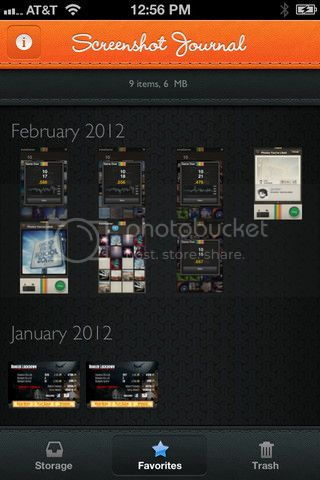 Screenshot Journal for iPhone, iPad and iPod touch